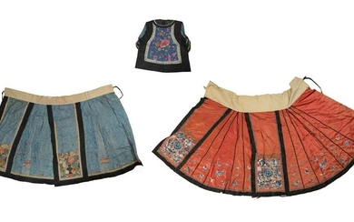 3 Chinese Embroidered Clothing, 19th Century