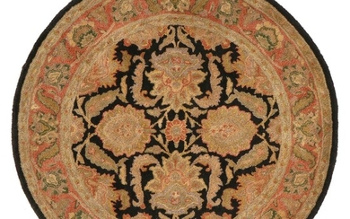 """5' Round Hand-Tufted Indian """"Sierra"""" Area Rug, 2000s"""