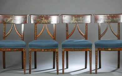 6 English side chairs, 19th c.