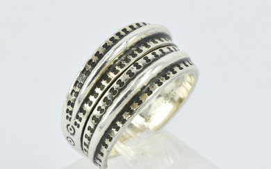 A DAIVD ANDERSON 'YEAR 300' STELING SILVER RING