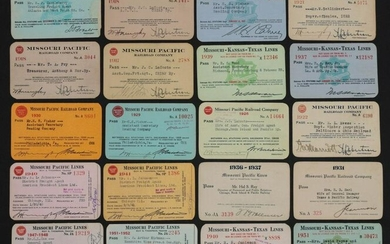 A LARGE COLLECTION OF RAILROAD PASSES DATED 1902-1954