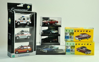 A group of 1/43 diecast comprising duo of Vanguards