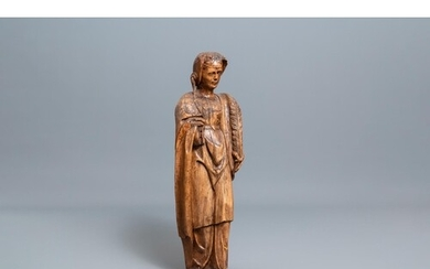 A large wooden figure of Saint Barbara, Germany, 16th C.H.: ...