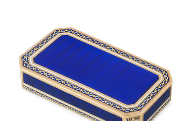 A late 18th/early 19th century German gold and enamelled snuff box