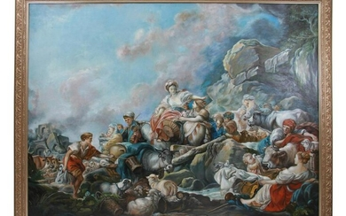 AN OIL ON CANVAS PAINTING AFTER FRANCOIS BOUCHER