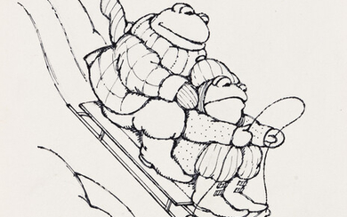 ARNOLD LOBEL (1933 1987) The sled began to move down the hil