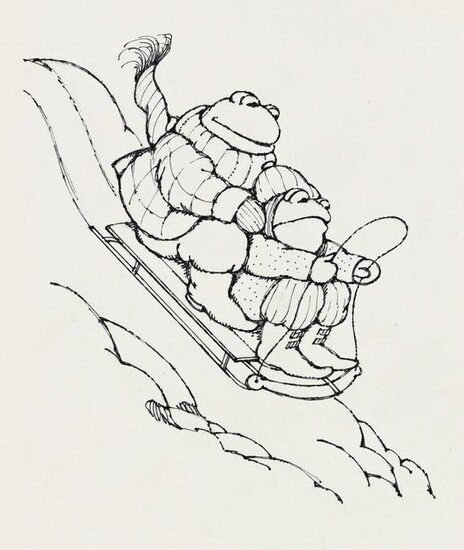 """ARNOLD LOBEL (1933-1987) """"The sled began to move down"""