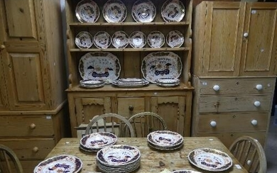 An extensive Staffordshire Dinner Service, in an imari patte...