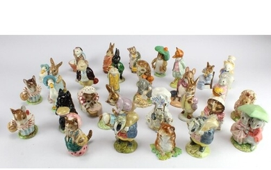 Beatrix Potter. A collection of thirty-two Beswick Beatrix P...