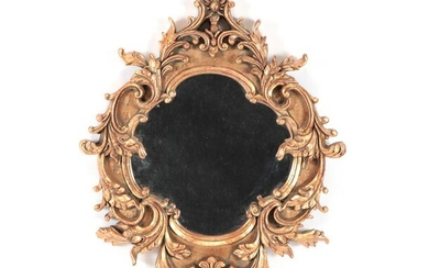 CARVED AND GILTWOOD MIRROR ROCOCO STYLE