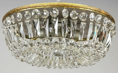 Ceiling lamp with crystal glass h