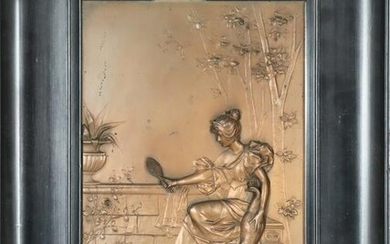 Copper Relief Plaque, Framed