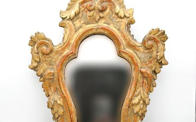 Frame for cartagloria - Gilded and carved wood - Early 19th century
