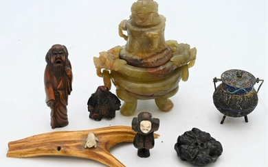 Group of Assorted Asian Items, to include Netsuke of