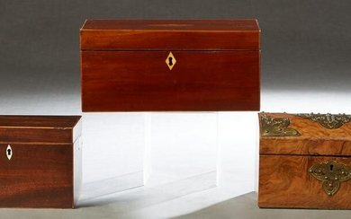 Group of Three English Boxes, 19th c., consisting of a