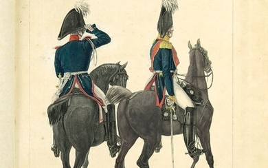 Karl Leopold von Kiel (1789-1851): Uniforms of Russian Army. Album with 42 lithographs of the...
