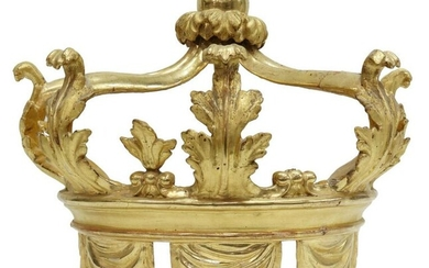 LARGE CONTINETNAL ARCHITECTURAL GILTWOOD CROWN