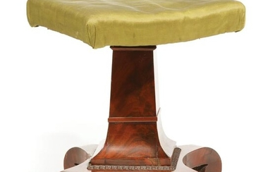 Late Classical Carved Mahogany Piano Stool