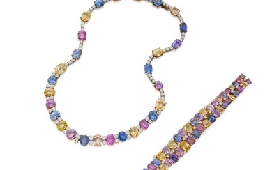 Multi-Colored Sapphire and Diamond Necklace, CHAUMET