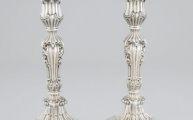 Pair of George IV Silver Table Candlesticks, Thomas