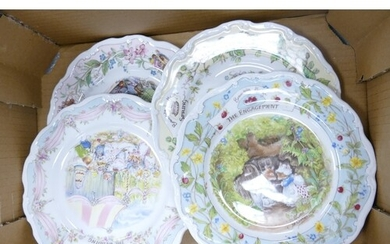Royal Doulton Brambly Hedge Plates to include: The Engagemen...