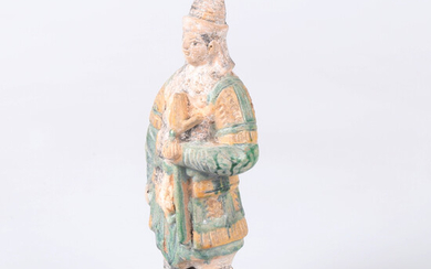 TRAVEL FIGURE in terracotta, Ming Dynasty, (1368-1644), China.