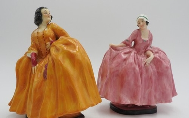TWO ROYAL DOULTON 'BEGGARS OPERA' FIGURINES, 'Lucy Lockit' ...