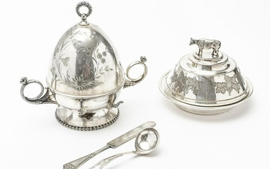 VICTORIAN SILVER PLATE BUTTER DISHES