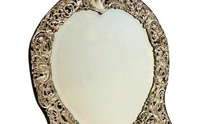 William Comyns & Sons Sterling Silver Table Mirror