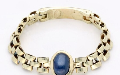 14 kt. Gold - Ring - 0.68 ct Sapphire