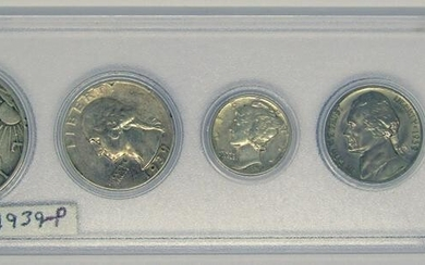 1939-P U.S. YEAR SET - 5 COINS - LINCOLN CENT