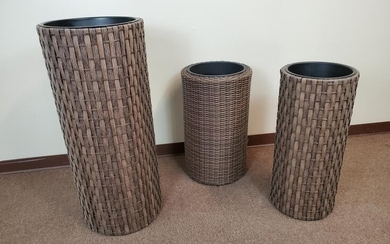 3 Woven Indoor/Outdoor Planter Columns
