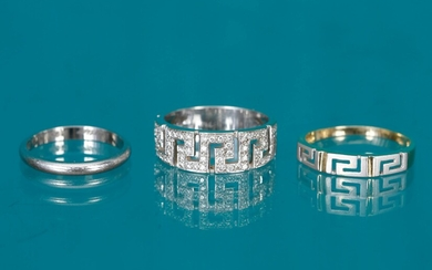 3 rings > Cartier Wedding ring in platinum (950‰) with...