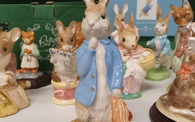 A Beswick Beatrix Potter figure, Peter And The Red Pocket Ha...