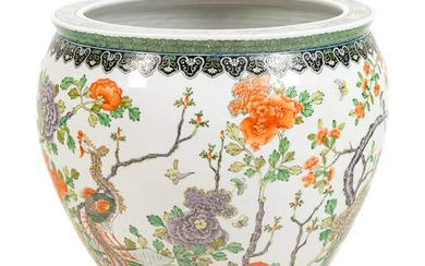 A Chinese Export Famille Verte Porcelain Fishbowl