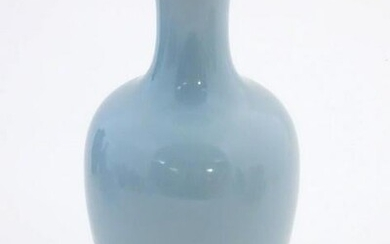 A Chinese celadon style vase of baluster form.