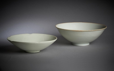 A Chinese white-glazed lobed bowl