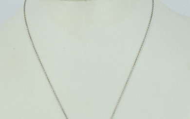 A SAPPHIRE AND TOPAZ SILVER NECKLACE