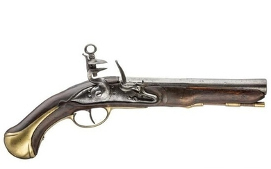 A flintlock pistol, Navy, from the period of King