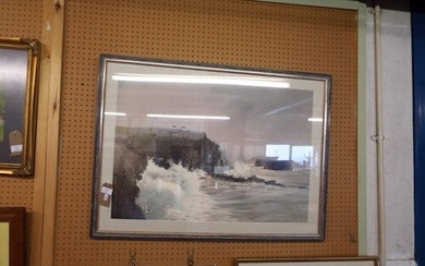 A framed Limited Edition lithograph 'Summer Storm Brittany' ...