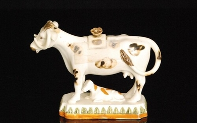 A late 19th to early 20th Century Staffordshire Prattware co...