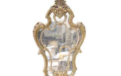 A small giltwood mirror