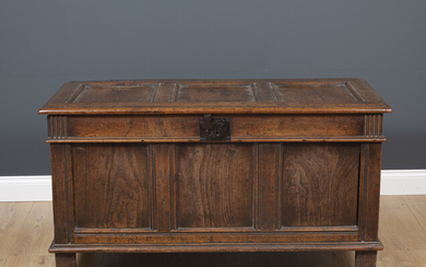 An 18th century and later oak coffer