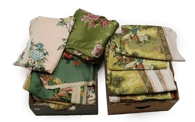 Assorted Post 1950 Upholstery and Curtain Fabrics, including Grafton Antique...