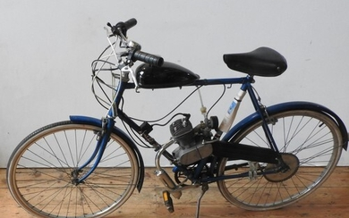 C. 1980 RALEIGH TRAVELLER WITH MOTORISED MOPED CONVERSION R...
