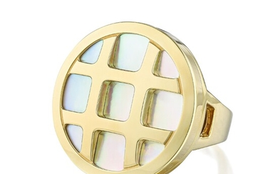 """Cartier """"Pasha"""" Mother of Pearl Ring"""