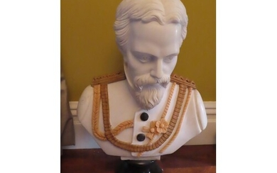 Italian white marble bust of General Ulysses Grant ? On a da...