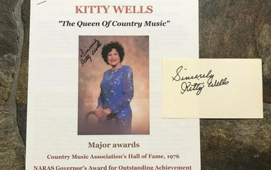 Kitty Wells Country Music Grand Ole Opry Signature