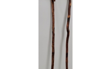 Lot Of 2 Wooden Walking Canes