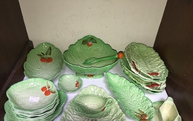 SECTION 3. A collection of vintage Carlton ware, Lettuce and...